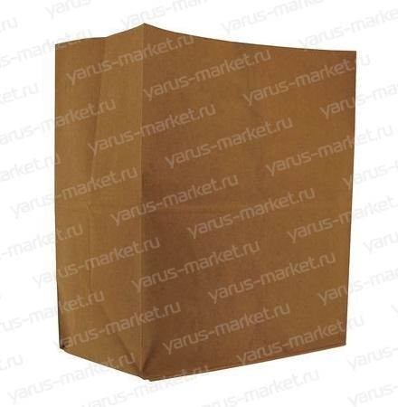 Крафт-пакет, 34х26х15 см., бурый, для овощей, фруктов, хлебобулочных изделий