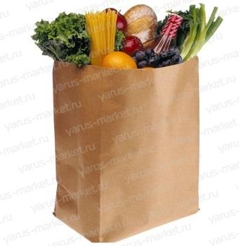 Крафт-пакет, 30х18х11 см., бурый, для фасовки и хранения хлеба