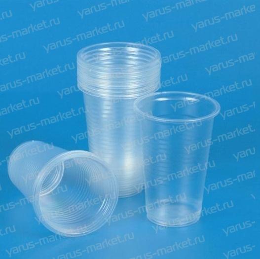 Пластиковый стакан, прозрачный, 200-500 мл