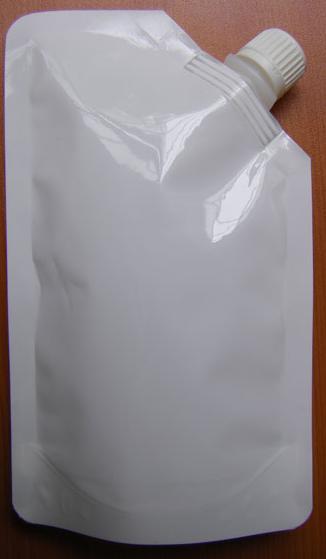 Белый металлизированный пакет дой-пак с замком зиплок для сыпучей бакалеи