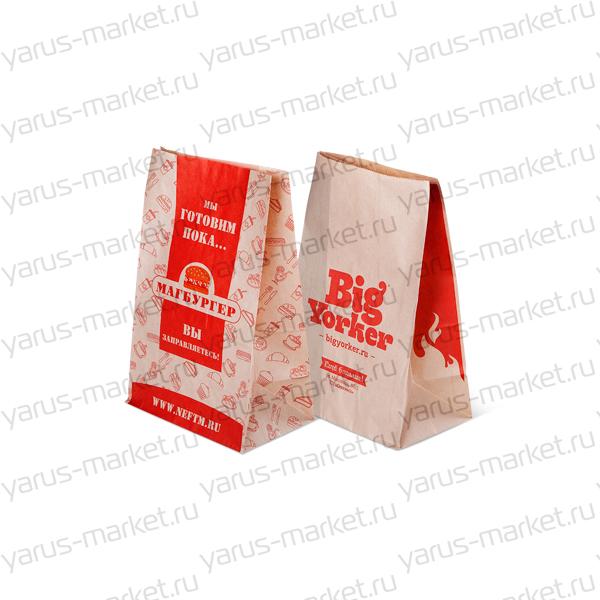 Пакет бумажный крафт без ручек