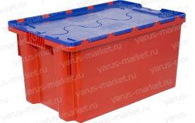 Пластиковый ящик, 600x400x315 мм., с крышкой, для мяса