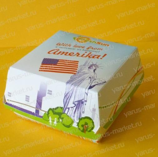 Коробка для бургера, 120х110х70 мм