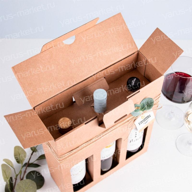Коробка для алкогольных напитков бурая