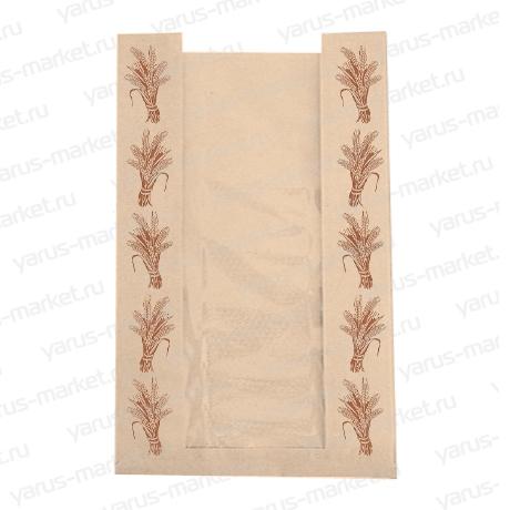 Бумажный пакет для хлеба, белый, бурый