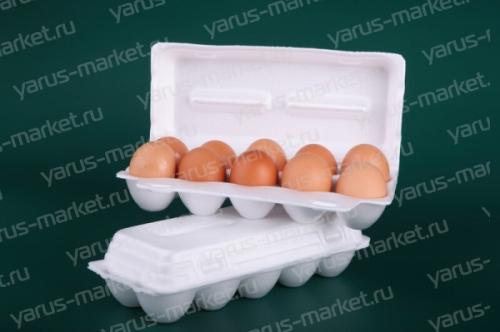 Контейнер ВСП мягкий для 10 куриных яиц. Купить упаковку ВСП мягкую для куриных яиц в магазине ЯрусМаркет
