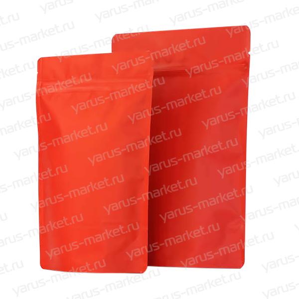 Дой-пак с zip-замком и клапаном, красный, 13,5x20 см