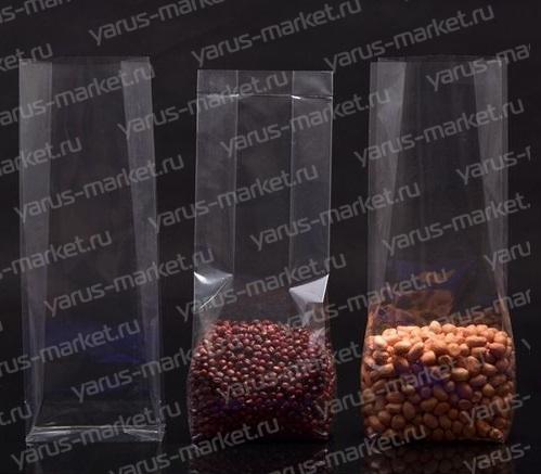 Пакет с прямоугольным дном, для фасовки орехов, сухофруктов, сыпучих смесей