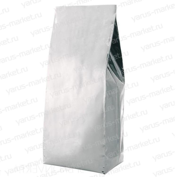 Пакет металлизированный, белый, с центральным швом (двухшовный)