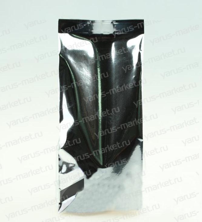 Пакет металлизированный с центральным швом для чая/кофе, серебряный