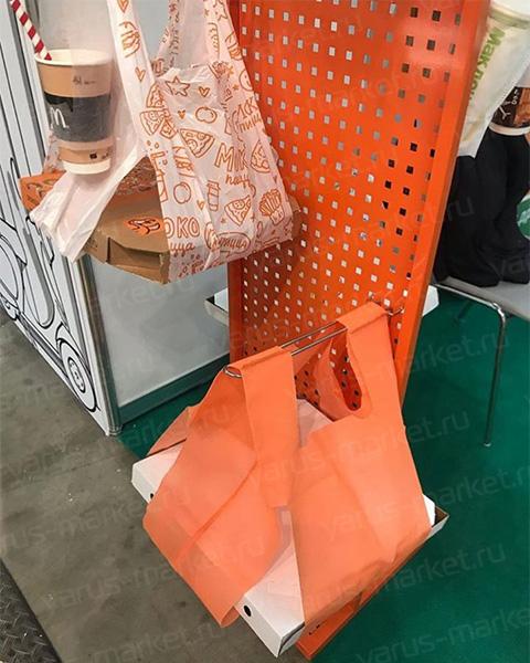 Полиэтиленовый пакет для коробки из под пиццы, 24+18х50см., 32+24x60см