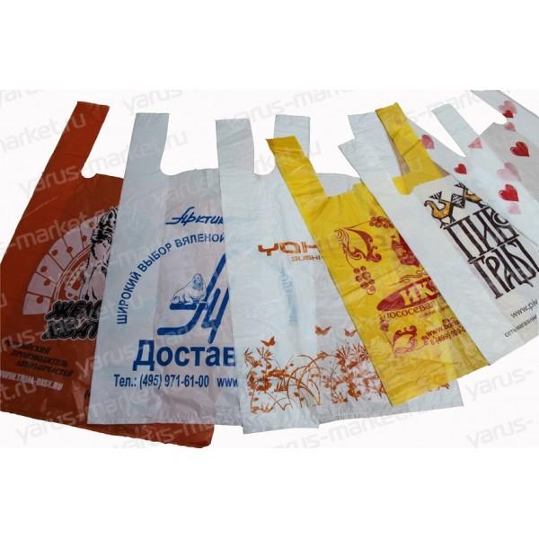 Пакеты-майки с печатью, ПНД