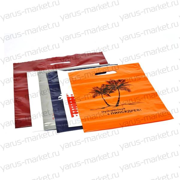 Пакеты ПВД с логотипом в ассортименте
