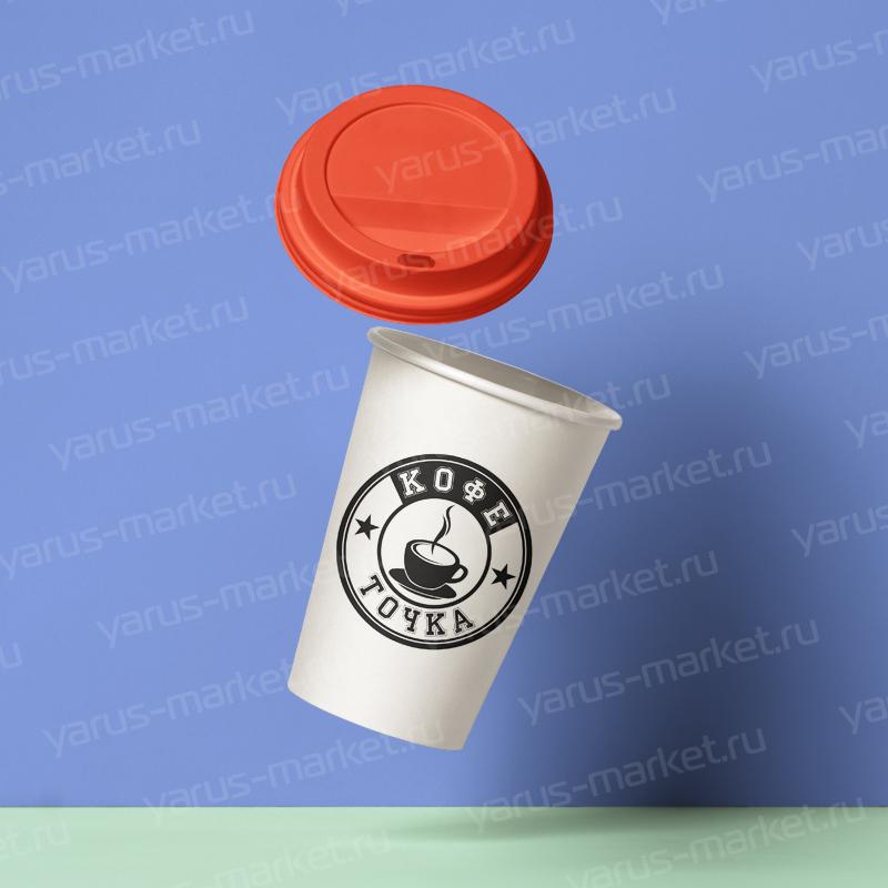 Наклейки на бумажные стаканы для кофе