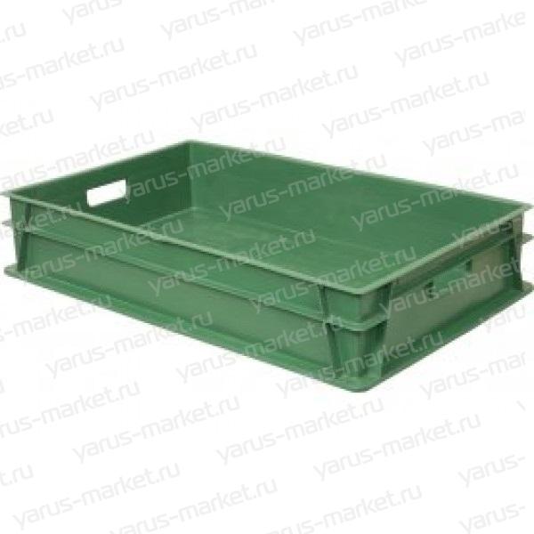 Пластиковый ящик, 600х400х150 мм., зеленый, для хлебобулочных изделий