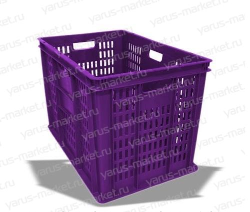 Пластиковый ящик, 600х400х410 мм., перфорированный, для овощей