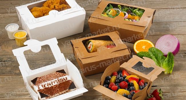 """Крафт упаковка для еды. Купить крафт упаковку для еды оптом дешево в магазине """"ЯрусМаркет"""""""