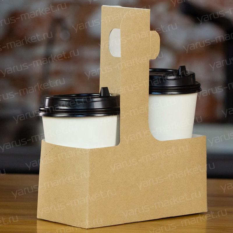 Картонный держатель для стаканов, 170х75х215 мм