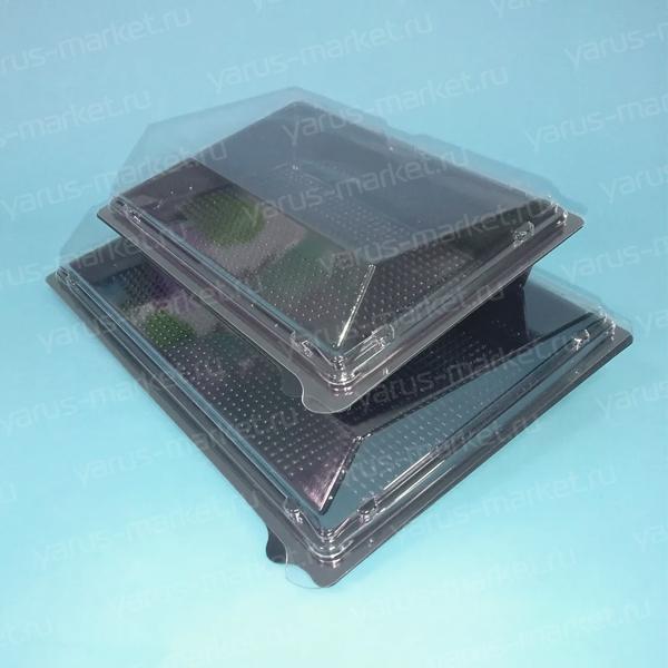 Крышка контейнера для суши 21х15,2х1 см, прозрачная
