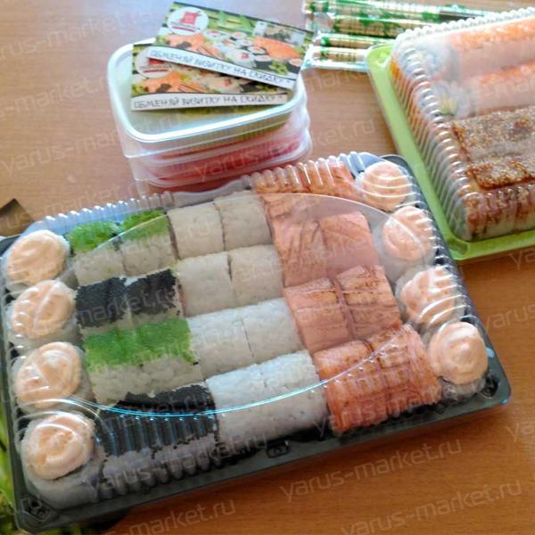 Крышка контейнера для суши, прозрачная