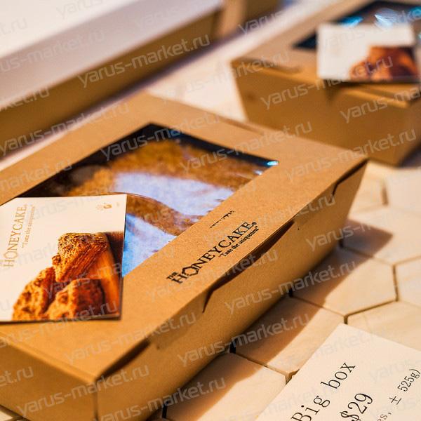 Картонная коробка 20×16×5 см для кондитерских изделий