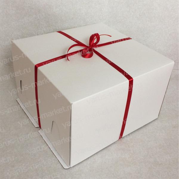 Коробка для заказных тортов 42×42×45см без окна