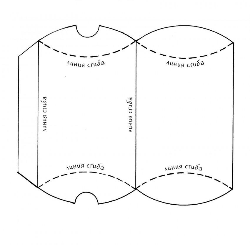 Картонная коробка пирожок для кондитерских изделий