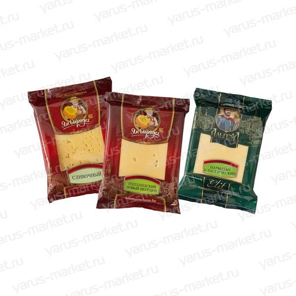 Упаковка флоу-пак для сыра