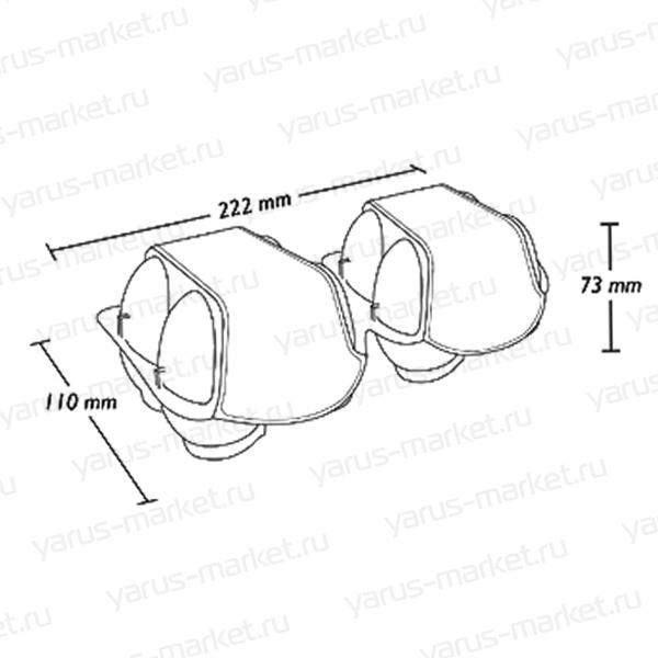 Контейнер для яиц крупной категории на 2x4 ячеек 110x222x73 мм (схема)