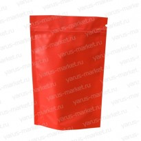 Дой-пак с zip-замком и клапаном, красный, 13,5x20 см.