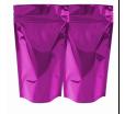 Дой-пак с прозрачной лицевой стороной, фиолетовый, для фасовки сыпучих товаров