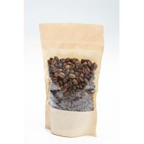 Бумажный крафт дой-пак под кофе и чай 110×185 с прозрачным окошком