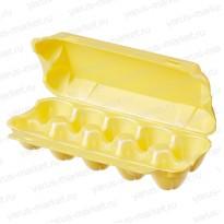 Желтый контейнер для яиц из ВПС, 230х105х65 мм.
