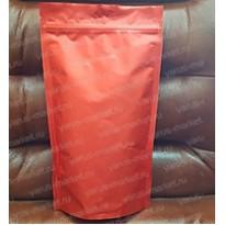 Красный матовый металлизированный дой-пак с зиплоком