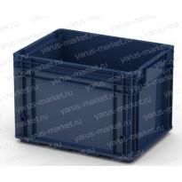 Пластиковый ящик, 396х297х280 мм., для замороженных продуктов, синий