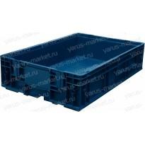 Пластиковый, универсальный ящик, 594х396х147.5 мм., синий
