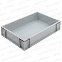 Пластиковый ящик, 1000х400х120 мм., для склада, серый
