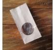 Бумажный крафт пакет, с окном, 17х8х5 см.