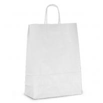 Крафт-пакет бумажный, с крученой ручкой, белый, 32*24*11, для хлеба