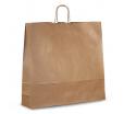 Крафт-пакет бумажный с крученой ручкой, белый, бурый, для продуктов