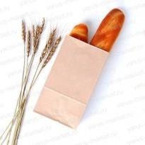 Крафт-пакет, 19*11*9.5 см., бурый, для фасовки и хранения хлеба