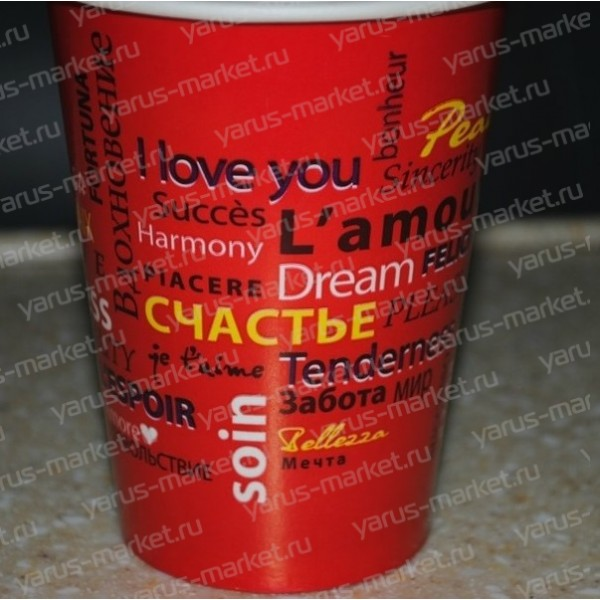 Бумажные стаканчики с логотипом в России Сравнить цены