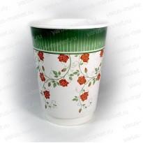 Бумажный стакан «Розы», 195 мл., 270 мл., 330 мл., 400 мл.