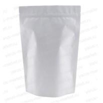Белый пакет дой-пак с замком зиплок для сыпучей бакалеи