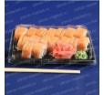 Контейнер для суши и роллов, 19х13х4,5 см., черный