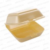 Коробка для бургера из ВПС, желтая, 125х125х70 мм.