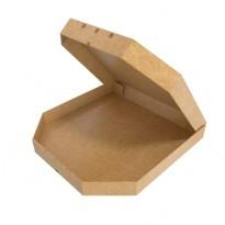 Коробка для пирога, белая, бурая
