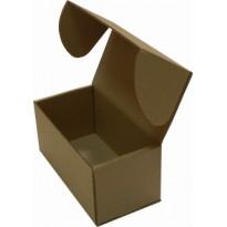 Коробка с ушками из картона для кондитерских изделий, бурая