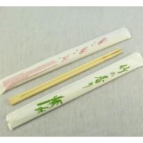 Бамбуковые палочки для суши, в бумажной упаковке, 23 см.