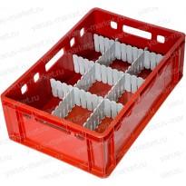 Пластиковый ящик, 600x400x200, для бутылок/мелких товаров